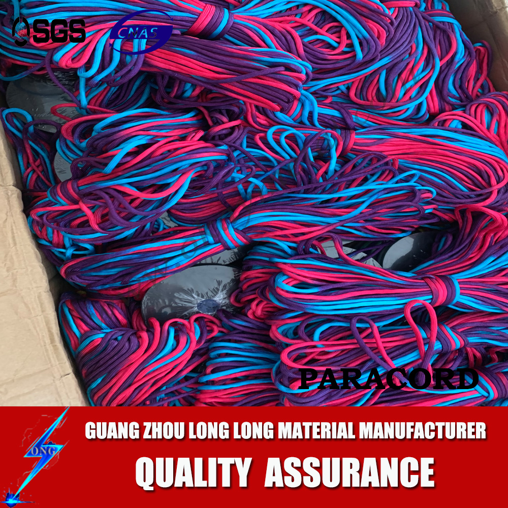 wholesale camping new rainbow multied paracord cord string survival parachute cord rainbow