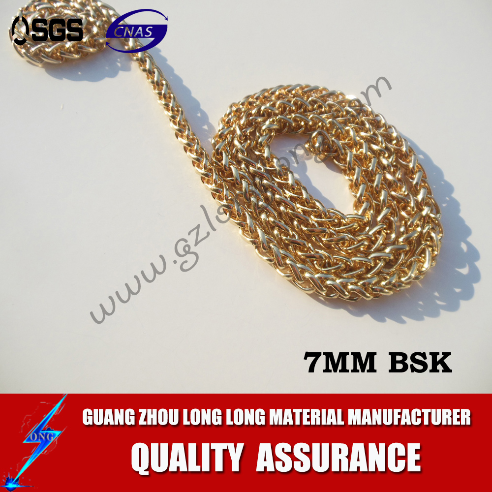 Decorative fashionable bag parts chain metal chain for bag accessory