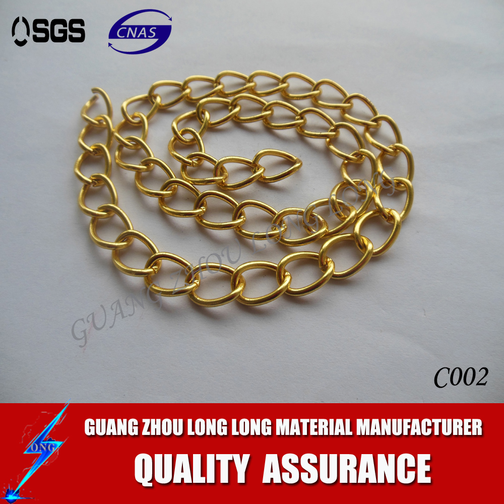 China Supplier Hot Sell High Level Shiny Gold Chain For Leather Handbag