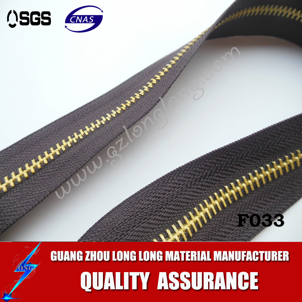 High Quality Antique Brass Metal Zippers For Pants