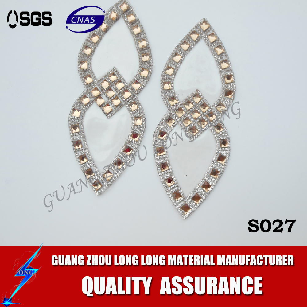 Shoes Upper Accessories Dimond Motif Rhinestone Transfer Hot Fix