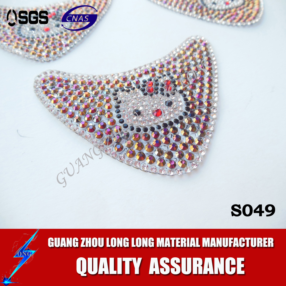 Wholesale shoe diamond design rhinestone transfer hotfix motif iron on shoe upper
