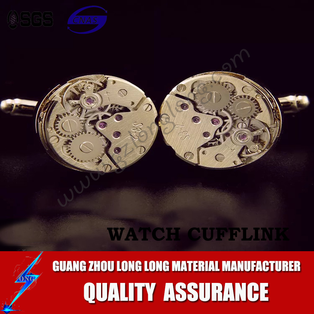 Custom High Quality Metal Mens Watch Cufflinks