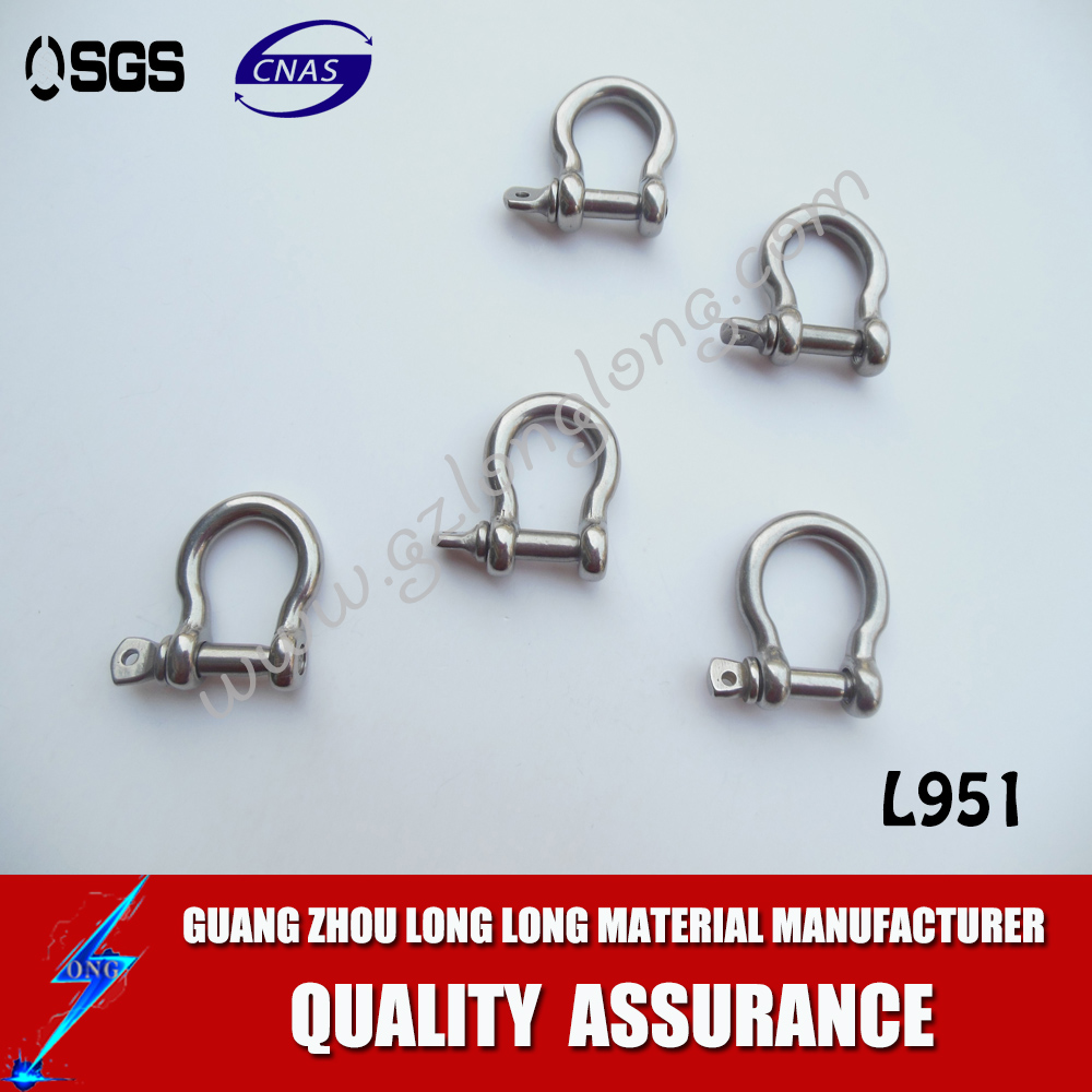 High Quality Marine Hardware Stainless Steel European Type Bow Shackle