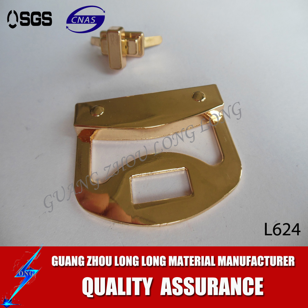 High Quality Light Gold Metal Bag Push Open Lock Wholesale