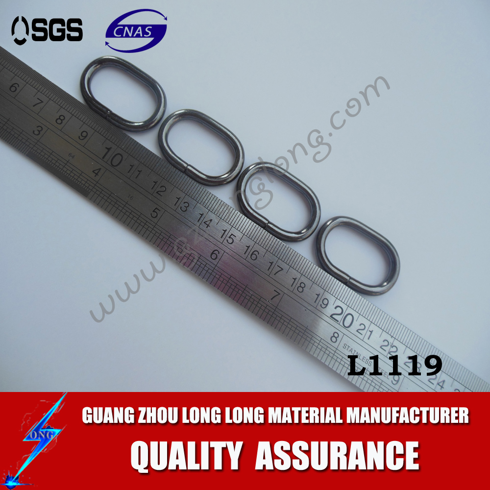 Wholesale Metal 1 inch Non Welded Nickel Plated D-Ring for bags
