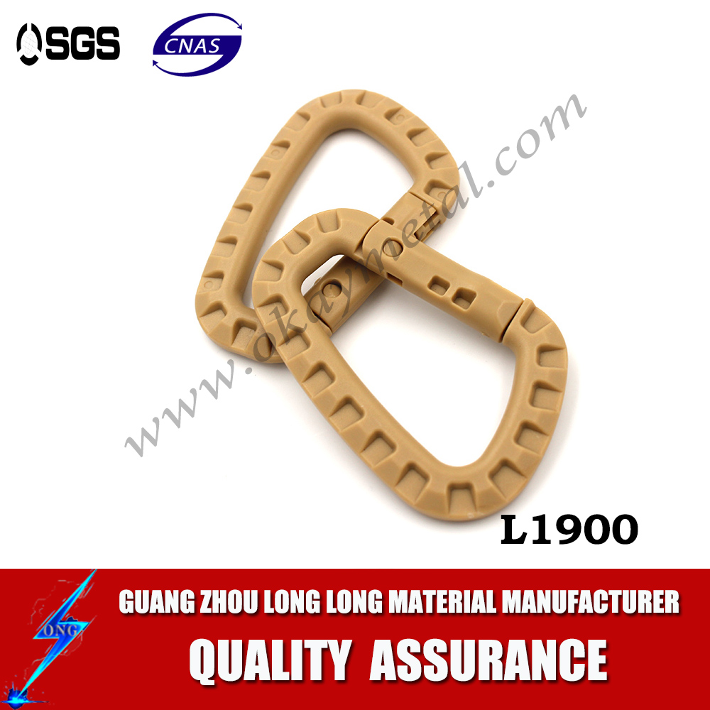 High quality climbing carabiner plastic carabiner hook clips swivel carabiner hook