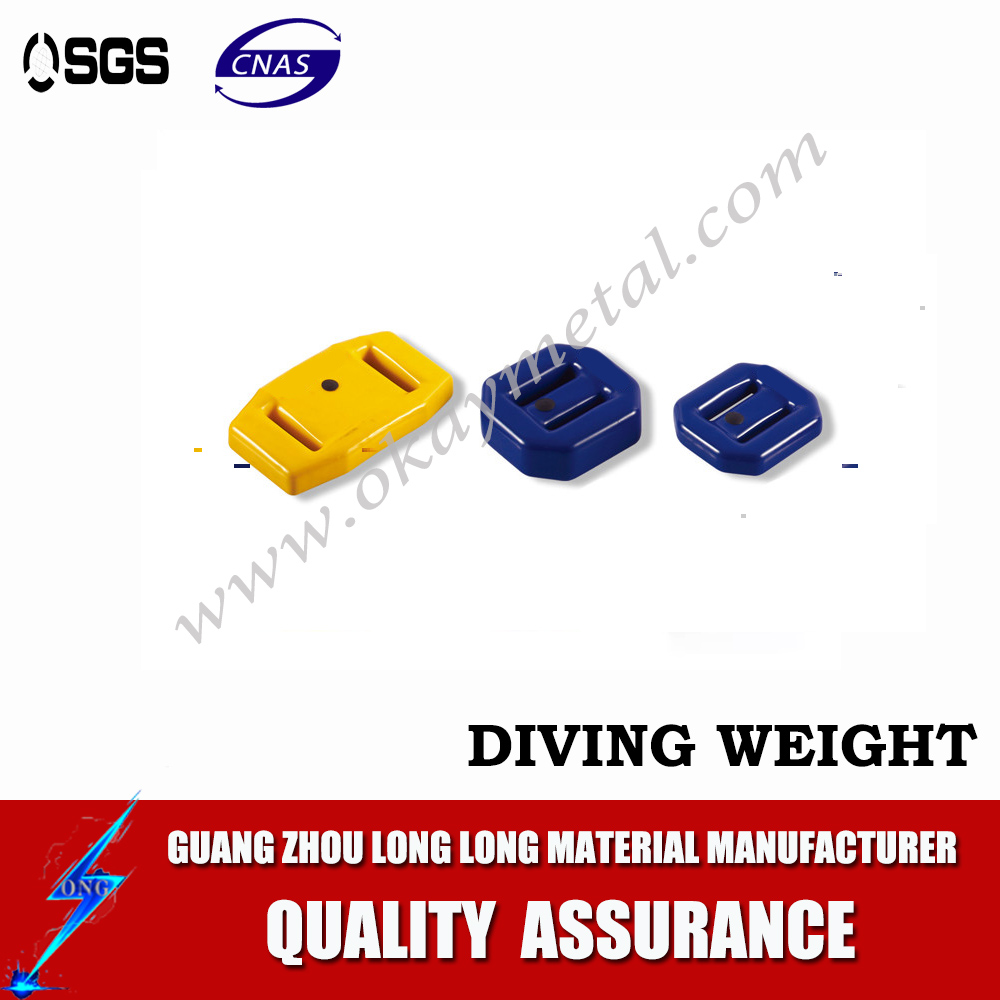 1KG NL type diving lead weights die casting pvc coated dive lead block