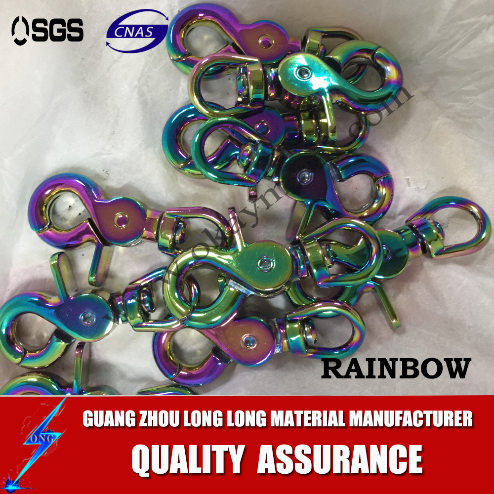 Fashion Rainbow Color Metal Snap Hook