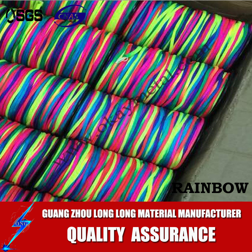 wholesale camping rainbow paracord cord string survival parachute cord rainbow