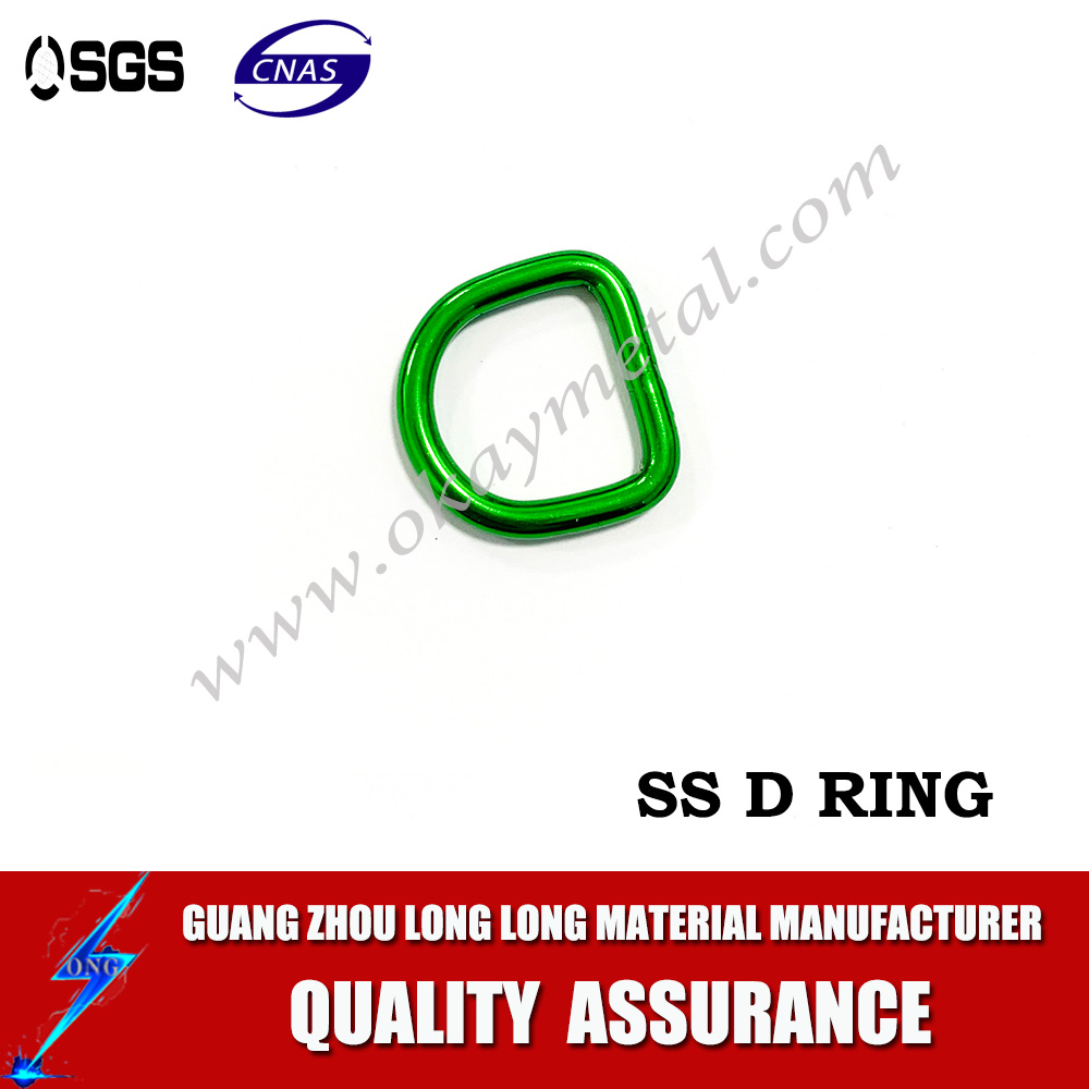 Colored Metal O Rings Buckle D rings