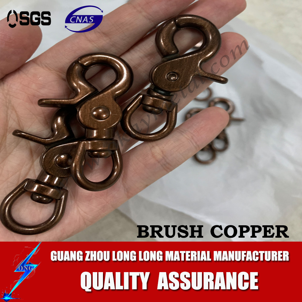 brush copper Dog Collar hardware Metal Quick Side Release Buckles For Dog Collars